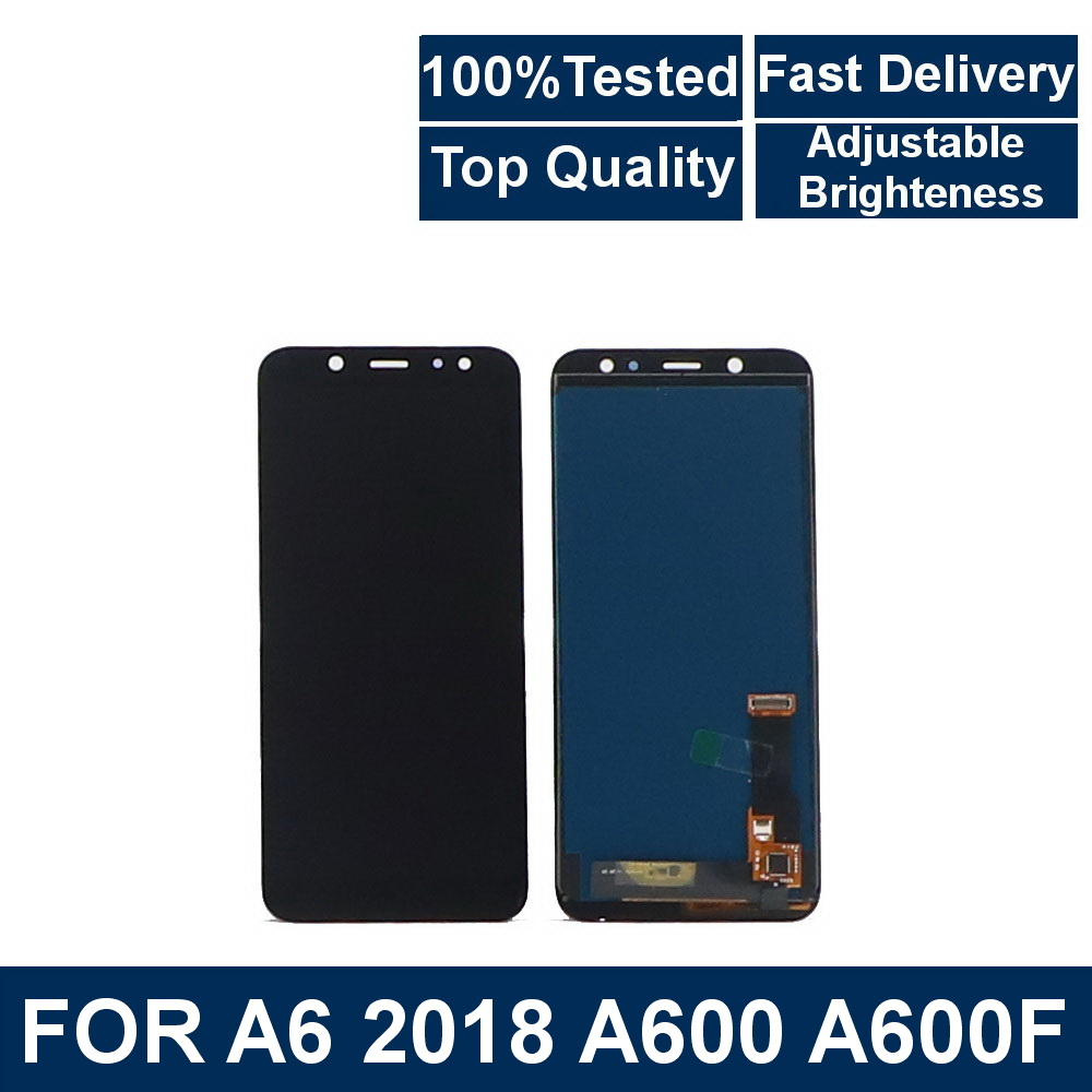 100% Tested For <font><b>Samsung</b></font> <font><b>Galaxy</b></font> <font><b>A6</b></font> 2018 A600 SM-A600F A600FN LCD <font><b>Display</b></font> Touch Screen Digitizer Assembly With brightness control image