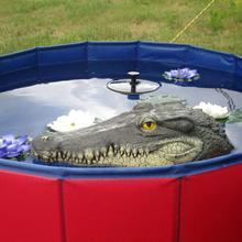 Floating Crocodile Head Water Decoy Garden Pond Art Decor Fo