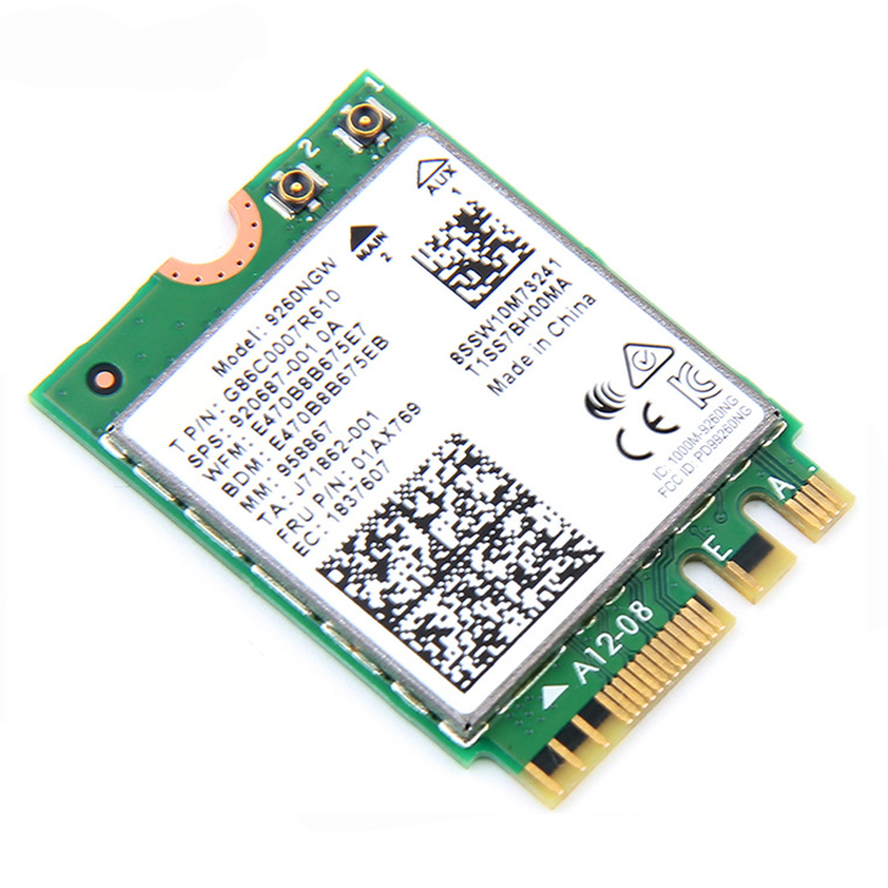 Image 4 - 1.73Gbps Wireless Card NGFF Network Card For Intel 9260 2.4G/5Ghz 802.11ac  Bluetooth 5.0 for Laptop Windows 10wifi network cardnetwork cardwifi network -