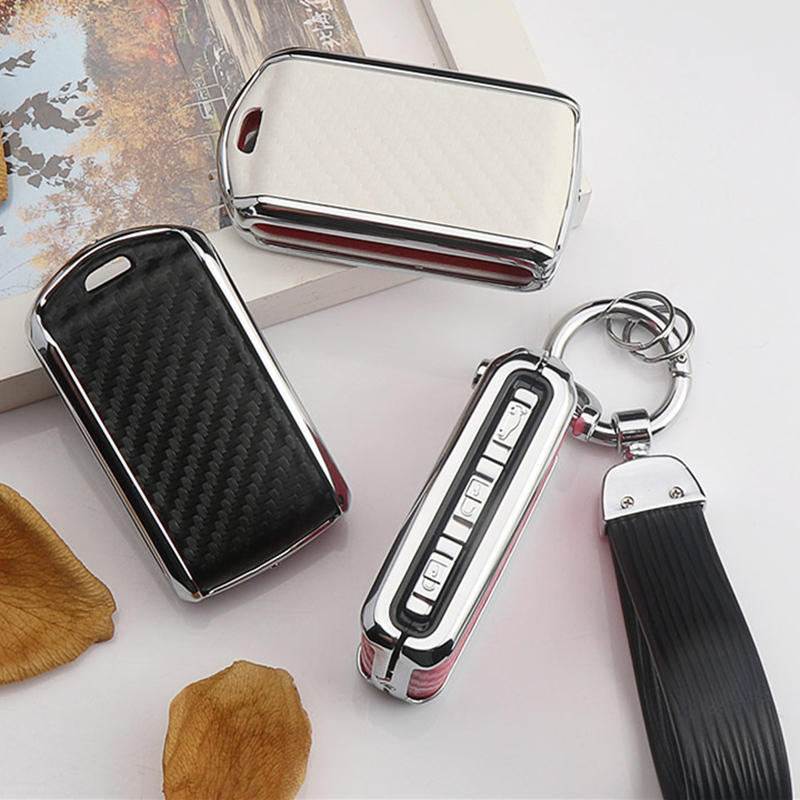 2019 Beautiful Carbon Fiber+Zinc Alloy Car Key Case Cover For Volvo XC40 XC60 S90 XC90 V90 2017 2018 T5 T6 2015 2016 T8 Keychain