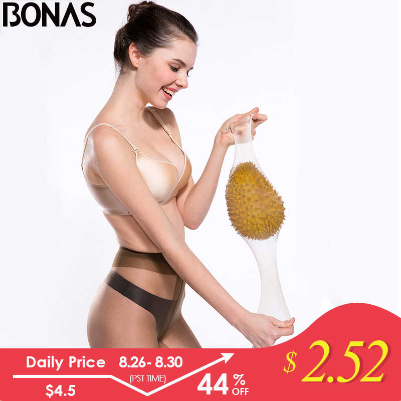 BONAS 2019 New 15D Sexy Breathable Tights Tear-resistant Women Pantyhose Ultra-thin Nylon Tights Stretchy Stockings Female