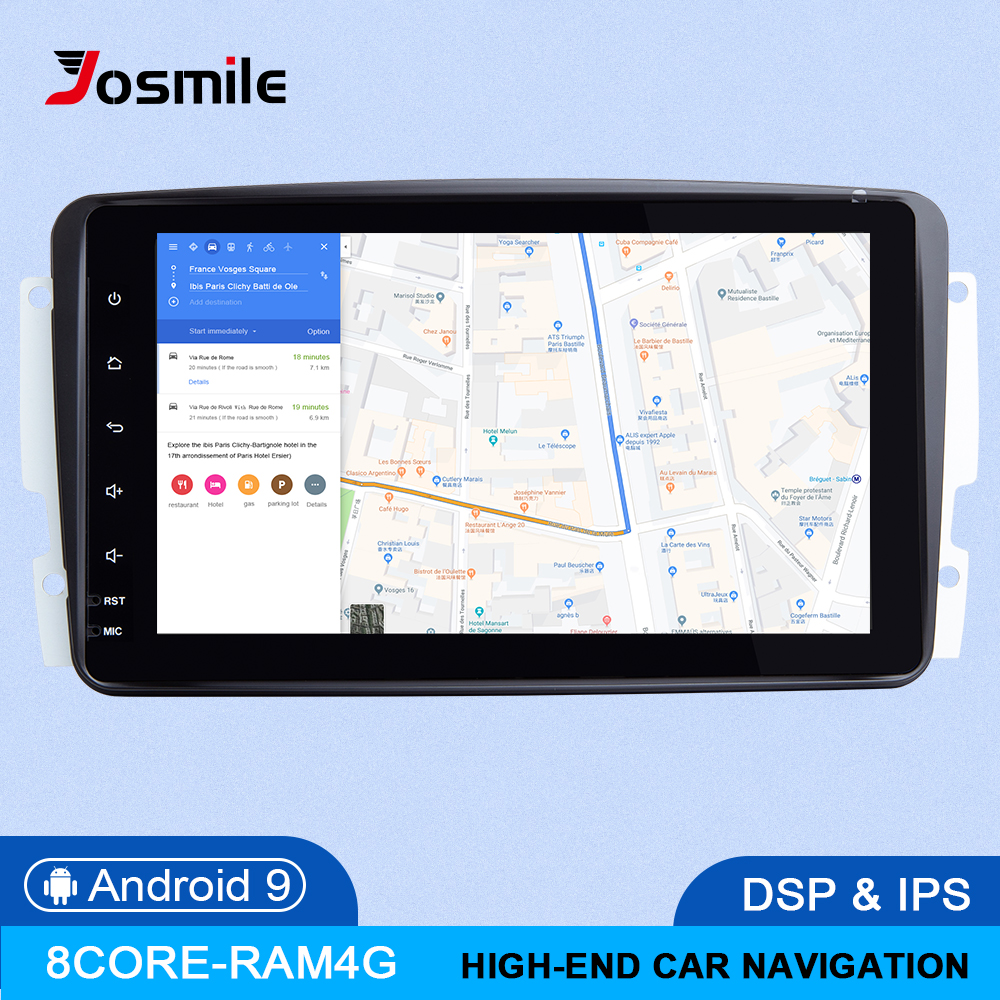 DSP 4GB RAM 64G Android 9.0 IPS Car Multimeida Player For Mercedes Benz <font><b>CLK</b></font> <font><b>W209</b></font> W203 W463 W208 GPS Naviagtion <font><b>Radio</b></font> Stereo OBD2 image