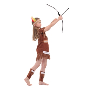 Image 3 - Disfraz de princesa india para niños, disfraz de arquero nativo, para Halloween, carnaval, fiesta