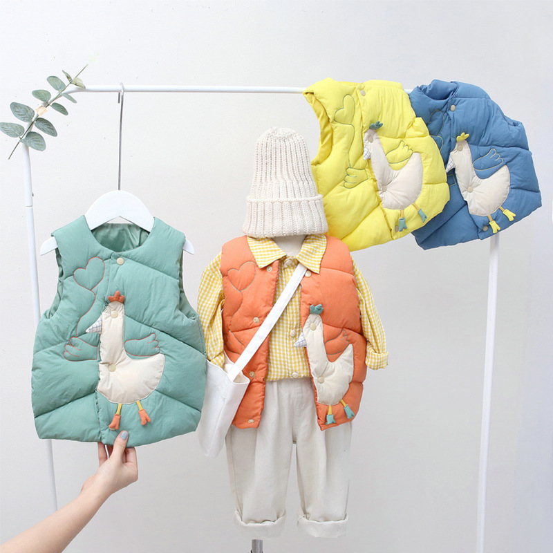 Kids Vest Sleeveless Jacket Children's Clothing Waistcoats For Boys Cotton Winter Autumn Toddler Girl Vest Outerwear Jacket 1