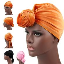 Unisex Men Velvet Durag Bandanas for Long Tail Multipurpose Women Durags Waves Cap