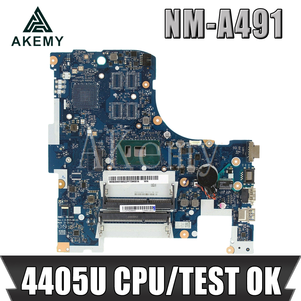 Akemy Free Shipping For Lenovo Ideapad 300-17ISK BMWD1 NM-A491 Laptop Motherboard SR2EX 4405U CPU