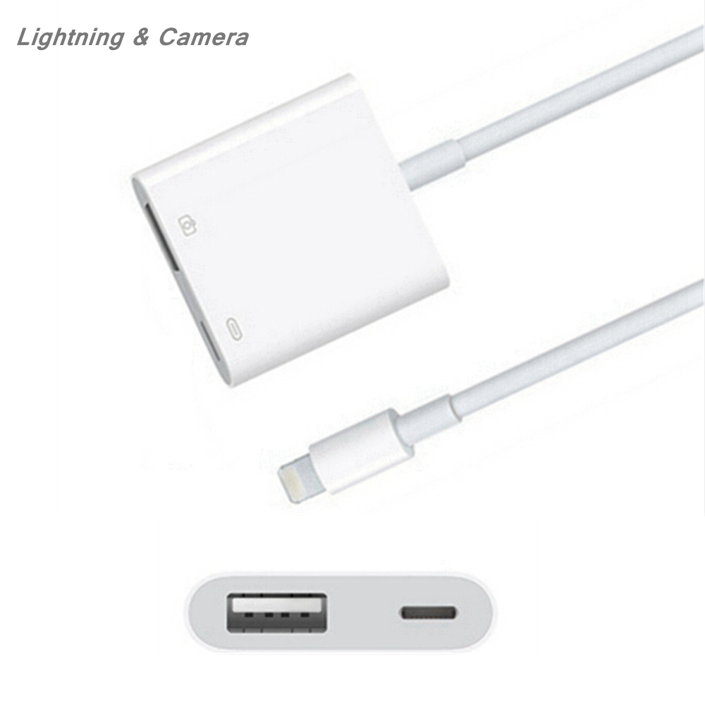 For IPhone IPad 5V Lighting 8Pin For Lightning To USB 3 Camera Adapter Converter Cable OTG Data Sync External Keyboard Connector