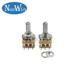 5 uds. De eje amplificador Dual, WH148 B1K B2K B5K B10K B20K B50K B100K B500K 6Pin 20mm, potenciómetro para estéreo 1K 2K 5K 10K 50K 100K 500K