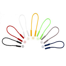 5Pcs 7 colors Zipper Pull Puller End Fit Rope Tag Fixer Zip Cord Tab Backpack jacket zipper head non-slip rope