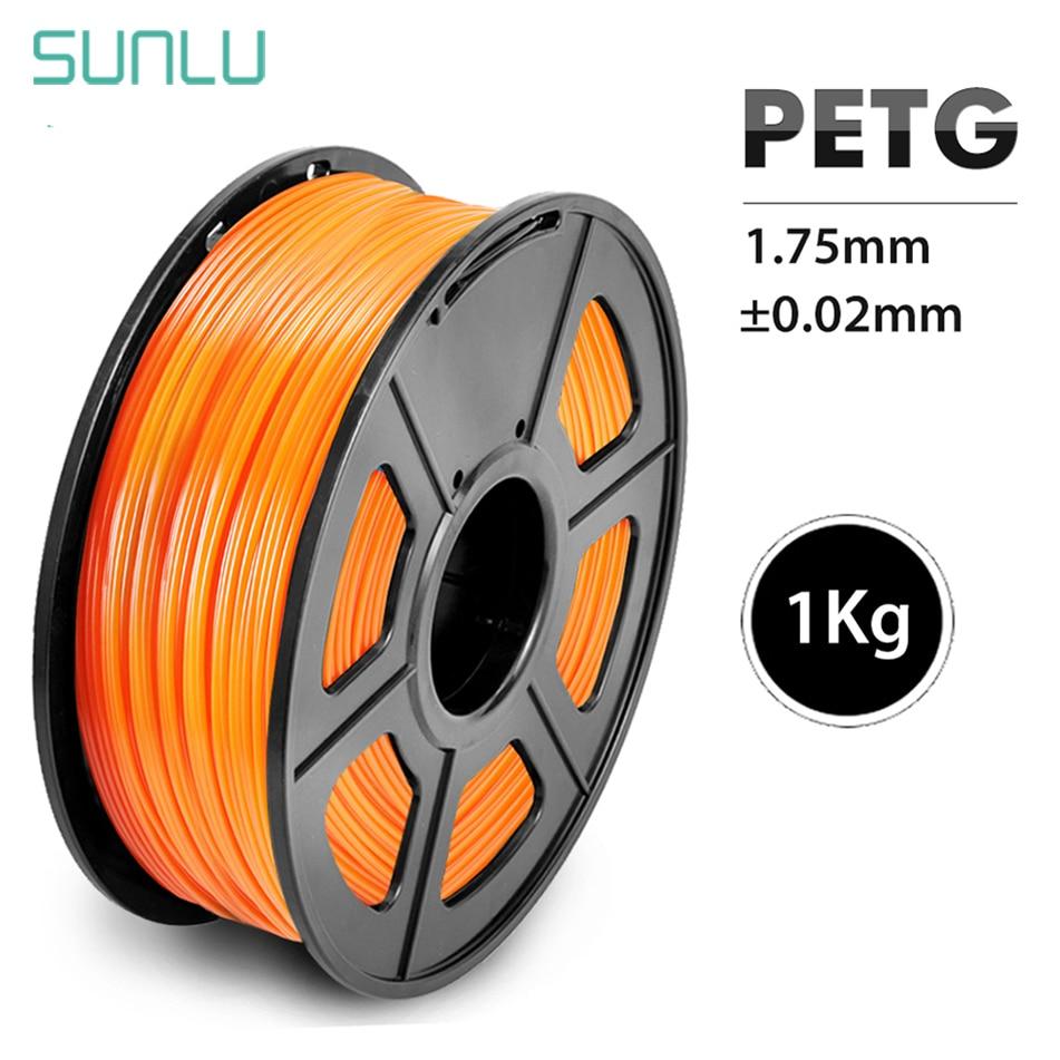 Impressora de 1.75 milímetros 3D 1KG Com Spool Filamento PETG PETG Filamento 100% Não Bubblle SUNLU Marca Comum 395M /rolo