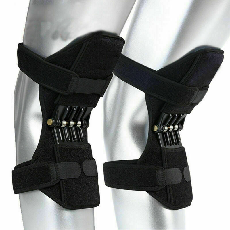 1 Pair Patella Booster Spring Force Power Joint Support Knee Pads Outdoor Mountaineering Squat Sport Knee Brace Support
