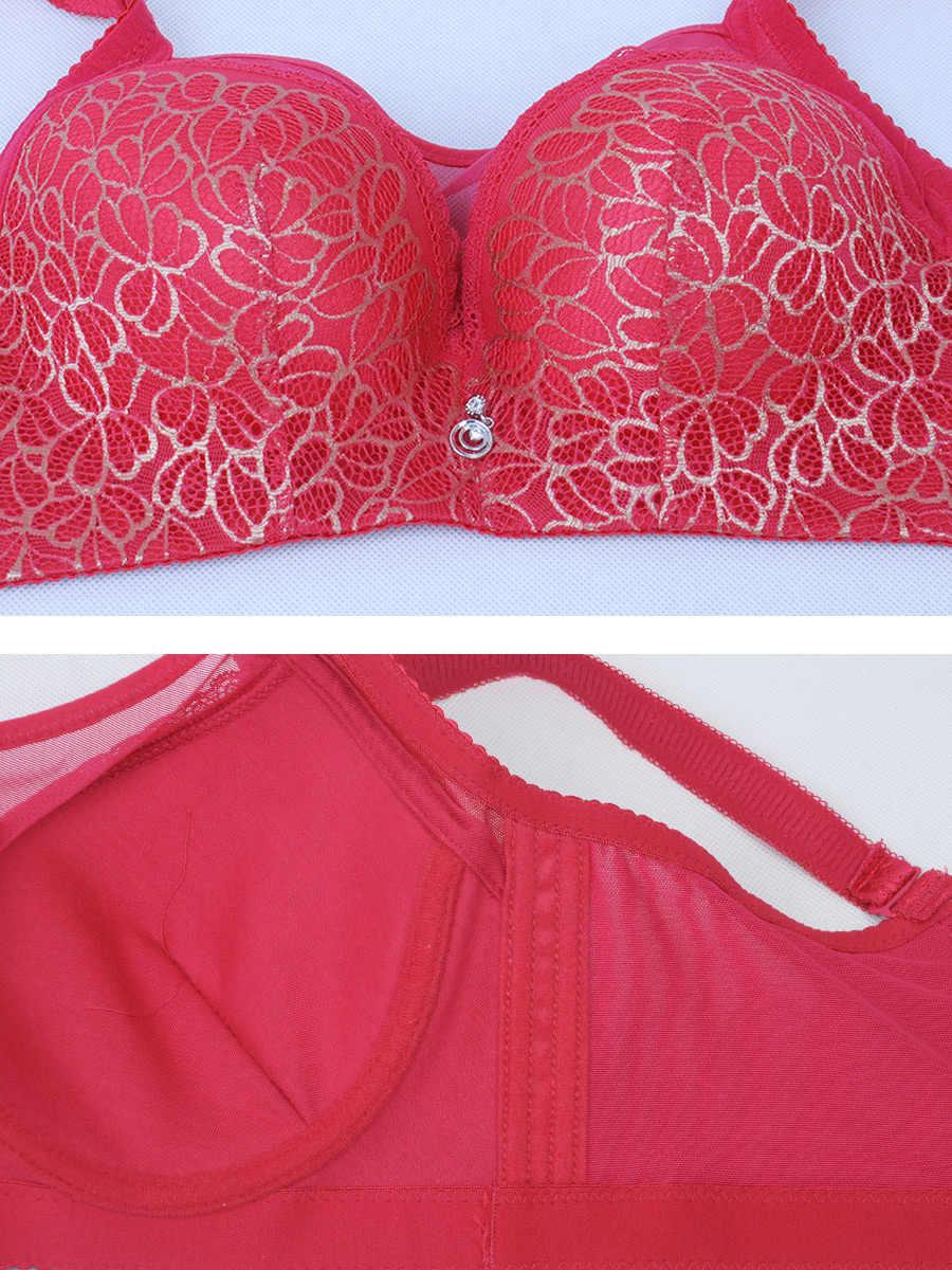 Пуш-ап лифчик большого размера кружевной бюстгальтер с регулируемым бюстгальтером Летний стиль кружевное сексуальное нижнее белье для женщин бюстгальтер 95D sutian распродажа белье 2019
