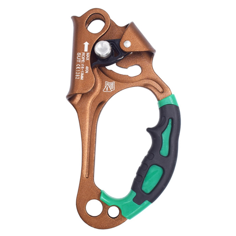Outdoor Rock Climbing Right Hand Ascender Handheld Riser for Tree Carving Rescue Arborist Rappelling Tree Climbing Arborist|Climbing Accessories| |  - title=