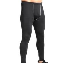Мужские брюки эластичные дышащие быстросохнущие анти-пот обтягивающие спортивные Беговые тренировочные Колготки Леггинсы Брюки