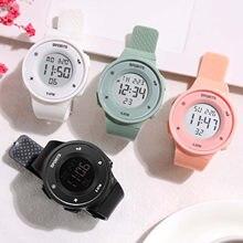 Mooie Led Digitale Horloge Voor Vrouwen Studenten Meisjes Zachte Siliconen Horloges Multifunctionele Led Lichtgevende Horloges Geschenken Vriend