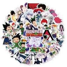 50 pçs hunterxhunter adesivos japão desenhos animados anime coleção 4-7cm pvc mala notebook skate graffiti adesivo à prova dwaterproof água