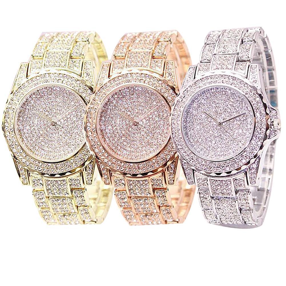 2020 Fashion Watch Ladies Luxury Round Quartz Watch Ladies Watch Shiny Golden Silver Watch Watch Ladies Gift
