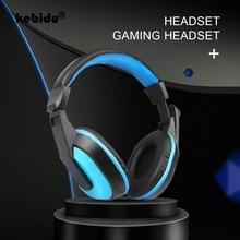 Kebidu 新到着ゲームヘッドフォンステレオタイプノイズキャンセルホットコンピュータ pc ゲーマー調節可能なヘッドセットマイク卸売