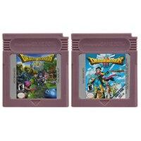 Video Game Cartridge Console Card 16 Bits Dragon Warrior Series For Nintendo GBC English Version 1