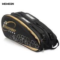 6 12 pçs grande raquete de tênis saco 2019 badminton saco/acessórios profissional raquete esportes saco para sapatos stroage|Bolsa esportiva p/ raquete| |  -