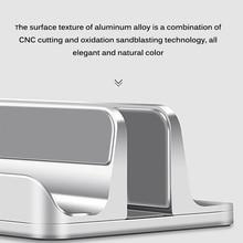 Double Vertical Laptop Stand Phone Holder  Aluminum Alloy Desktop Stand Adjustable Laptop Holders For Ipad Storage Bracket