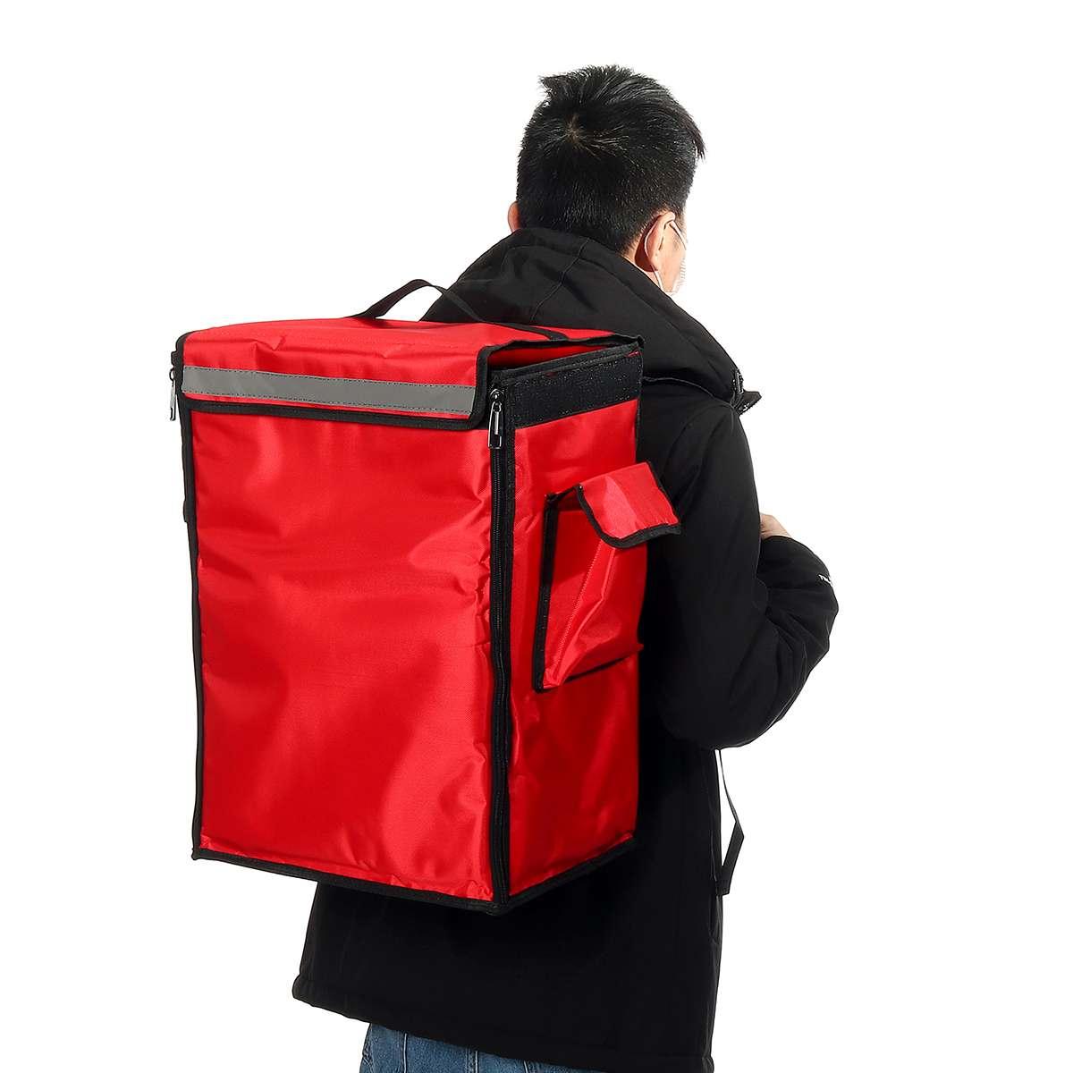Sac isotherme pour Pizza, 42l, Portable, sac de livraison de nourriture, pique-nique, Scooter, sac à dos isotherme, sac isolant pliable