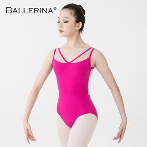 Image 5 - Ballerina Ballet Leotards For Women Yoga Sexy aerialist Dance Costume mesh gymnastics Sleeveless Leotards 2518