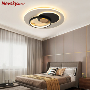 Скандинавскиие тонкие металлические потолочные светильники для гостиной потолочное светодиодное освещение в интерьере круглая деревянна...