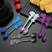 (A Pair Of Selling) Dessert Spoon New Color 304 Couple Stainless Steel Dessert Spoon Western Hotel Supplies Cake Coffee Spoon slim dessert spoon