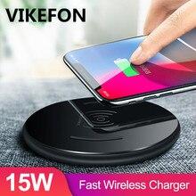 ワイヤレス充電器15ワットチー高速ワイヤレス充電器電話用のパッドの充電S9 S10 10ワットiphone 11プロxs最大xr xiaomi mi 9