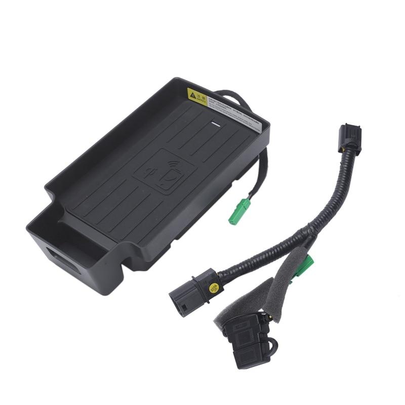 10W Auto Del Telefono Mobile Qi Pad di Ricarica Wireless Modulo Console Storage Box per Audi Q3 2013 2019 Auto accessori