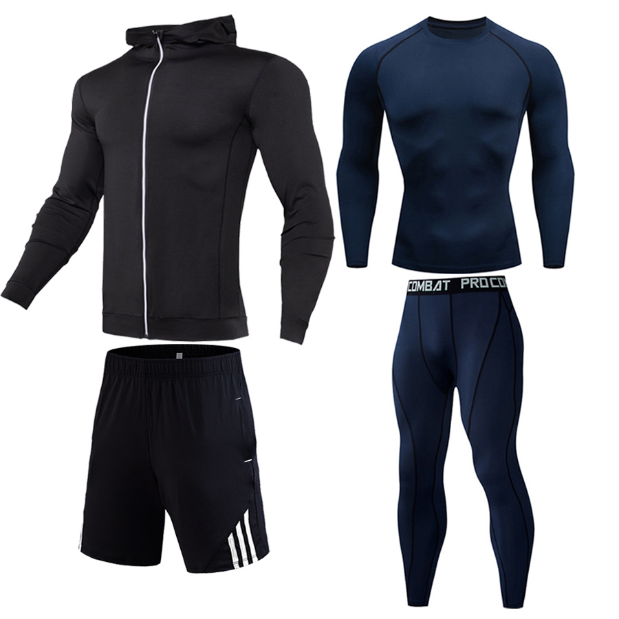 New Winter Thermal Underwear Sets Men Quick Dry Anti-microbial Stretch Men's Male Warm Long Johns Fitness Men Sports Running Set
