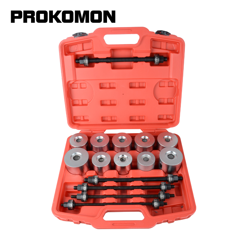 27pcs Universal Press And Pull Sleeve Kit Bush Bearing Removal Insertion Tool Set