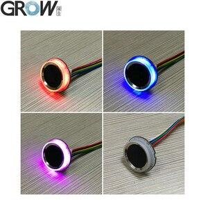 Image 4 - GROW K216 + R502 A mały cienki okrągły pierścień LED pojemnościowy kontrola dostępu za pomocą odcisków palców