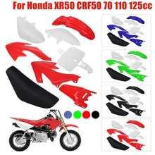 Kit de carénage complet pour moto Honda XR50 CRF50 70 110 125cc, 8 pièces, ailes en plastique + ensemble de sièges hauts, pour Dirt Bike