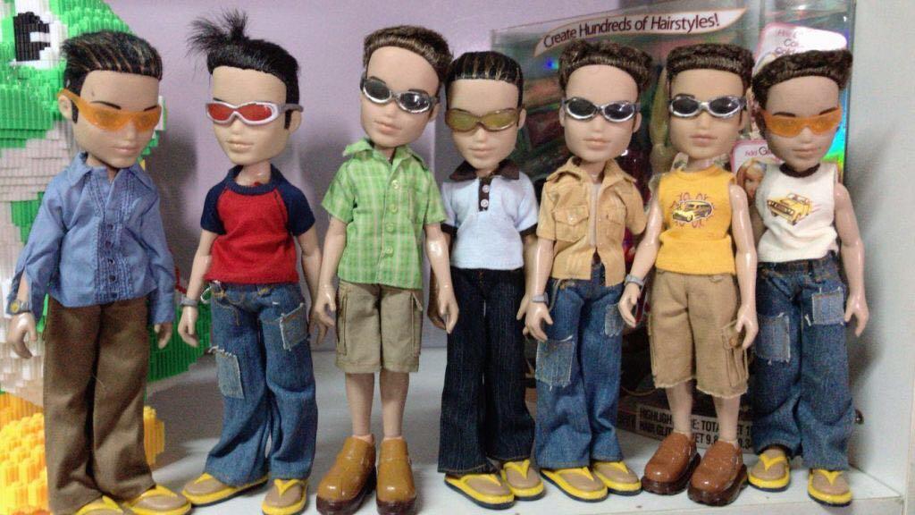 23cm Original Fashion Action Figure Original Bratz Boy Doll  And Beautiful Clothes Dress Up Doll Best Gift For Child