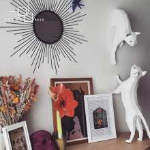 Inswind Nordic home cat wall decorations simple paper art ha