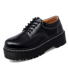 Oxford Männer Casual Schuhe Helle Echtem Leder Plattform Männer Punk Schuhe Paar Dicken Boden Motorrad Schuhe Zapatos Mujer Unisex