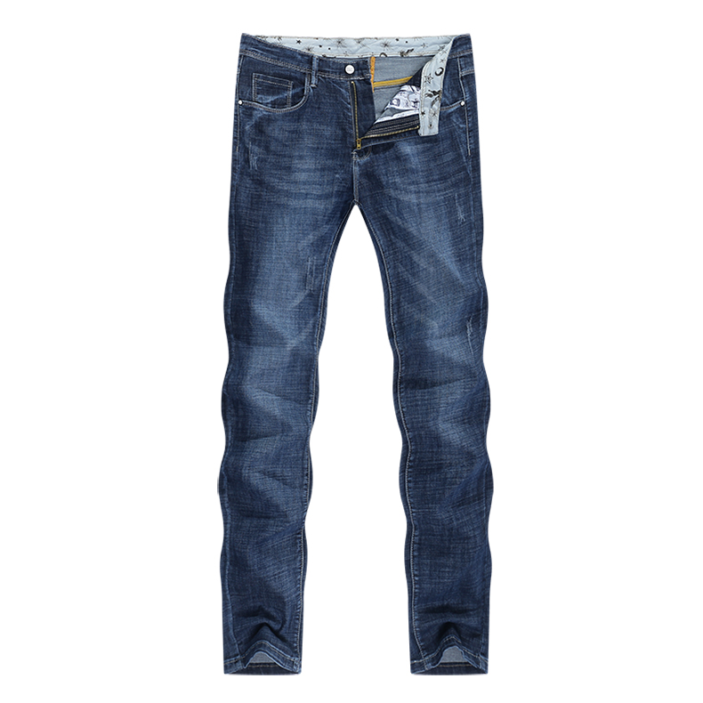 KSTUN Men's Jeans 2020 Summer Denim Pants Slim Straight Elastic Soft Blue Regular Fit Leisure Long Trousers Famous Brand Jean Hombre 11