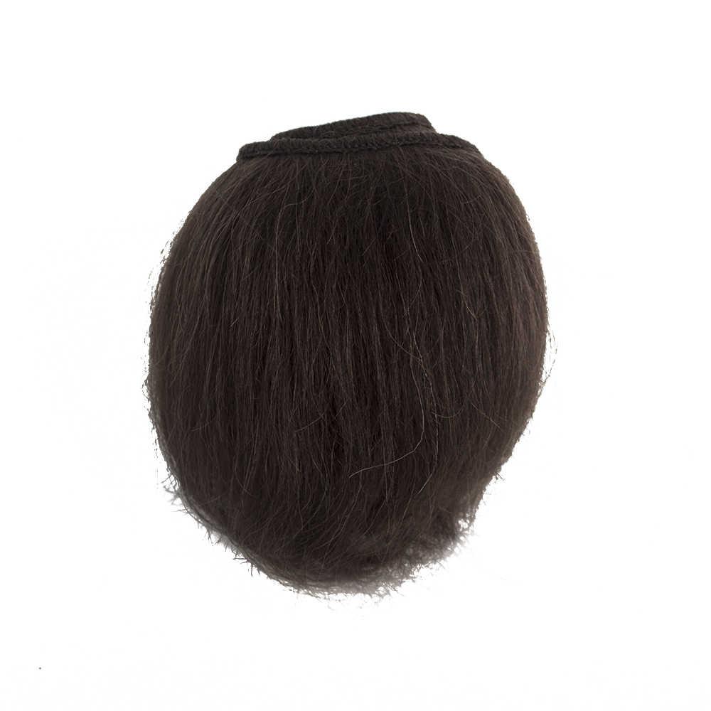 Muziwig puro Mohair DIY peluca bebé muñeca pelo con Color rosa marrón dorado ajuste para la peluca de muñeca de bebé Reborn DIY fácil de lavar y raíz