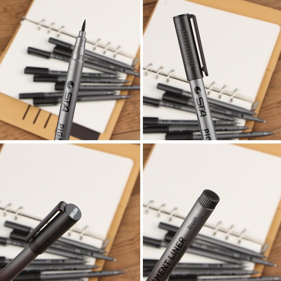 Әр түрлі өлшемдегі маркер қалам. Қара - Қаламдар, қарындаштар және жазба құралдары - фото 5
