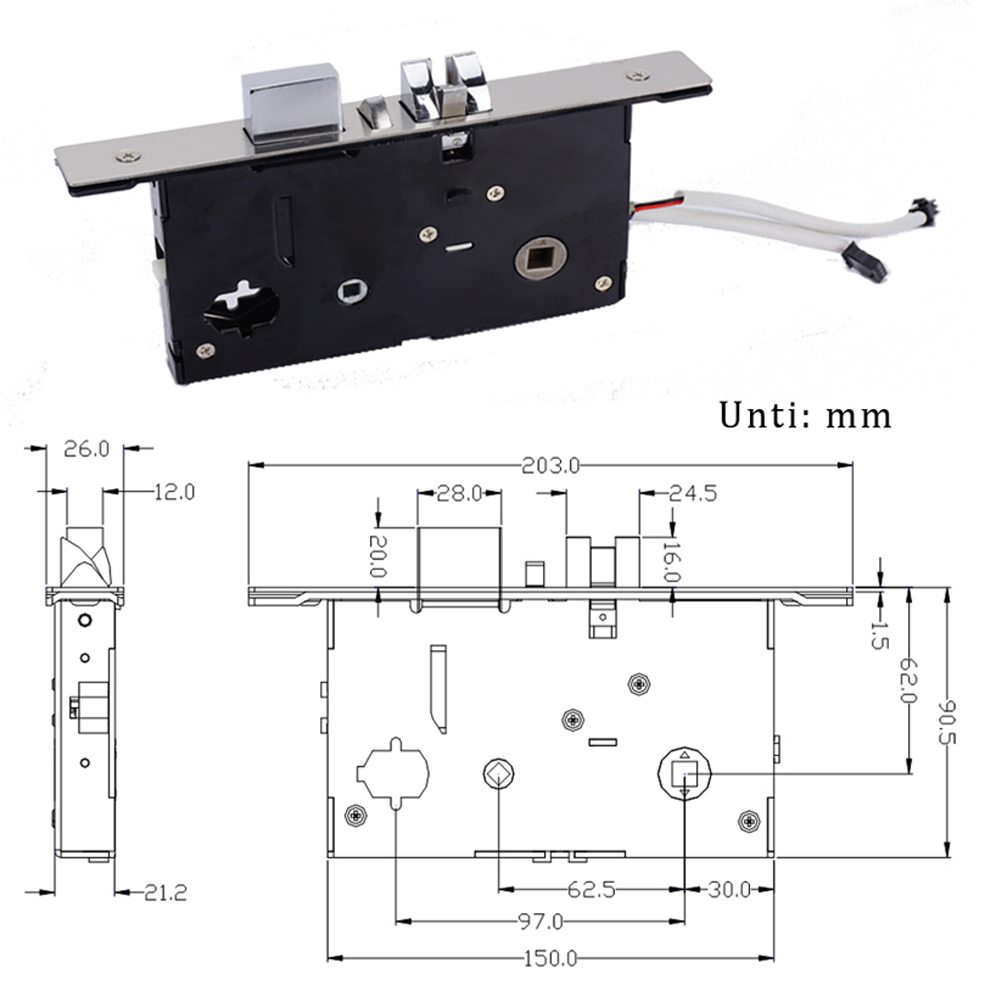Electroni lock body for password door lock image