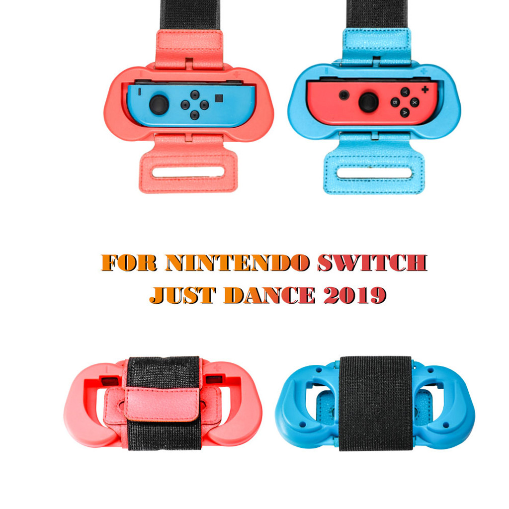 2PCS Adjustable ElasticJust Dance Arm Strap Band Wristband For N-Switch JoyCon Gamepad Smart Accessories For Dance Practice