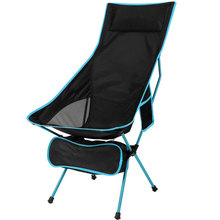 Ultralight Portable High Back Folding Fishing Chairs with Headrest for Outdoor Camping Hiking Picnic Backpacking Lawn Beach BBQ cheap xc0036 600D Oxford and Aluminum Alloy Frame 2 8 lbs Ultra-lightweight Detached and Folded