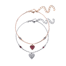 High quality SWA new bracelet with crystal and Valentines Day wishes red love in one fashion design Bracelet