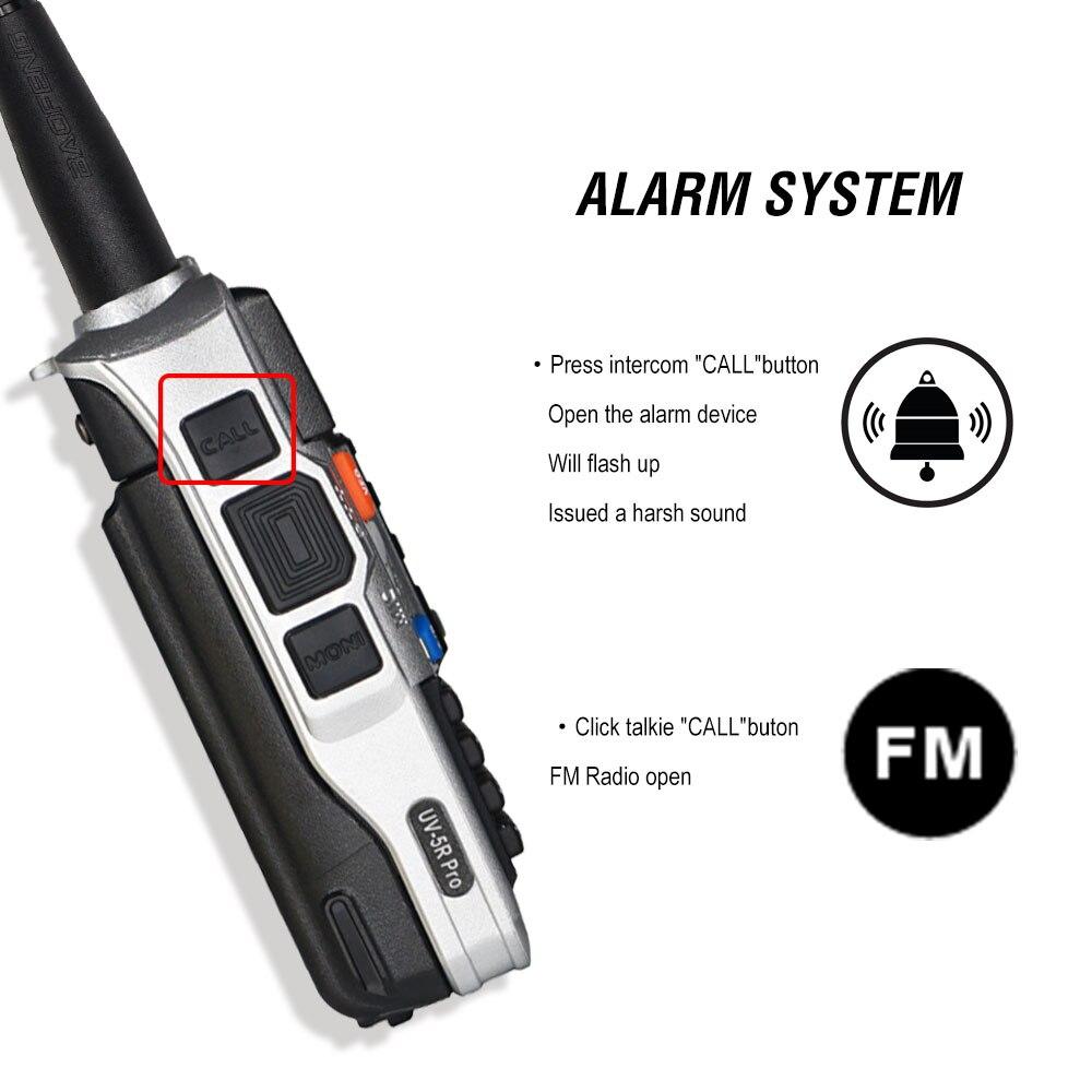 2pcs tri-band baofeng UV-5R pro walkie talkie