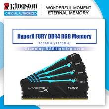 Orijinal Kingston HyperX FURY 8GB 16GB DDR4 2666MHz 3200MHz Masaüstü ram bellek CL15 DIMM XMP Masaüstü Dahili bellek Oyun