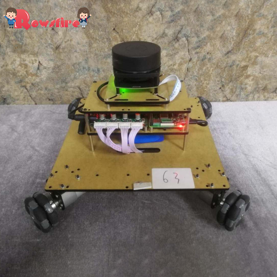DIY Robot Operating System Ailibot Omnidirectional Robot Car Kit - 03 Version With High Quality
