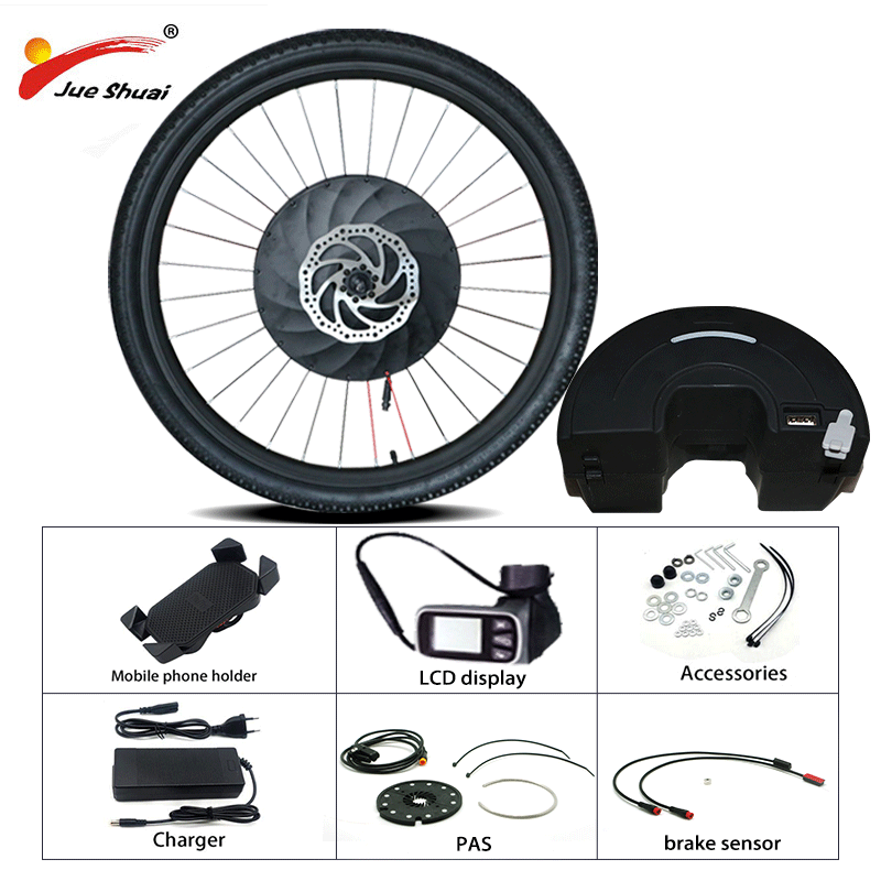 iMortor 2 Electric Bicycle Conversion Kit 36V MTB Road Bike Front Motor Wheel All in one Imortor Kit E bike Kit