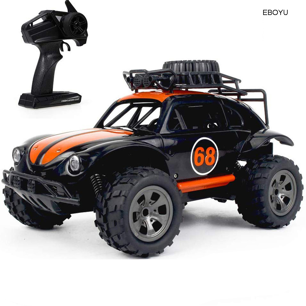 EBOYU 1816A <font><b>RC</b></font> Car 2.4GHz 1/18 2WD Big <font><b>Wheel</b></font> Off-Road Remote Control <font><b>Truck</b></font> King RTR for Kids Beginners image